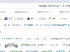 网站seo诊断优化方案案例:网站排名提升并稳定在首页!